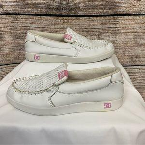 DC Villain SE Slip-on Skate Shoe Pink & White